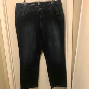 Lane Bryant dark wash straight jeans plus size 20